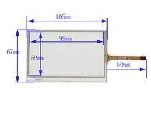 4.3 inch Resistive Touch screen Panel glass TWK023F62 105*67