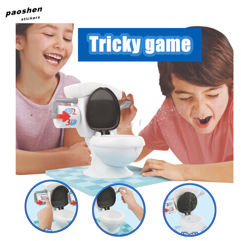Tricky Water models toilet base Target For Children Boys and girls Family Game Friends Party Funny Prank Challenge Hat Toy