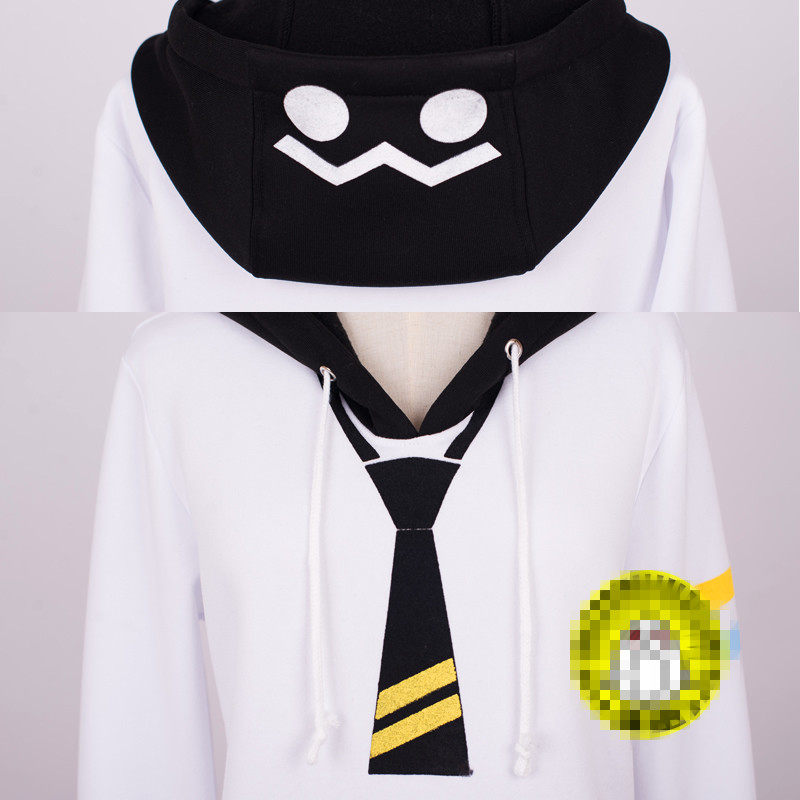 Anime Auto un Mixiu Cosplay Costume fille garçon Hoodies Autume hiver manteau blanc vêtements - 4