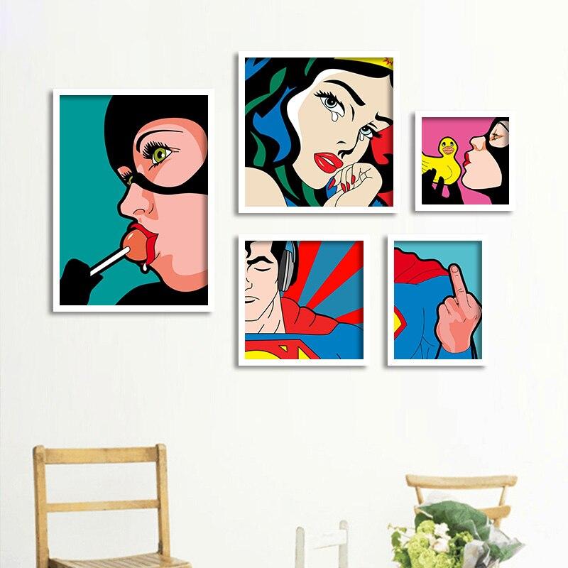 City Hero Nordic Poster und Druckgrafik Wandkunst Leinwand Malerei Wandbild Kinderzimmer 50x70cm Poster