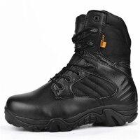 Masculino delta tactical boots couro alto desempenho impermeável botas militares ao ar livre respirável antiderrapante caminhadas tênis para homem|Calçados para caminhada| |  -