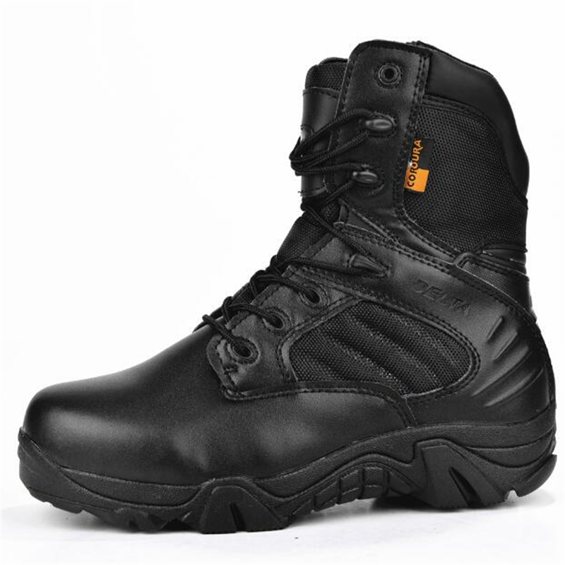 Men Delta Tactical Boots Leather High Performance Waterproof Military Boots Outdoor Breathable Non-slip Hiking Sneakers For Men