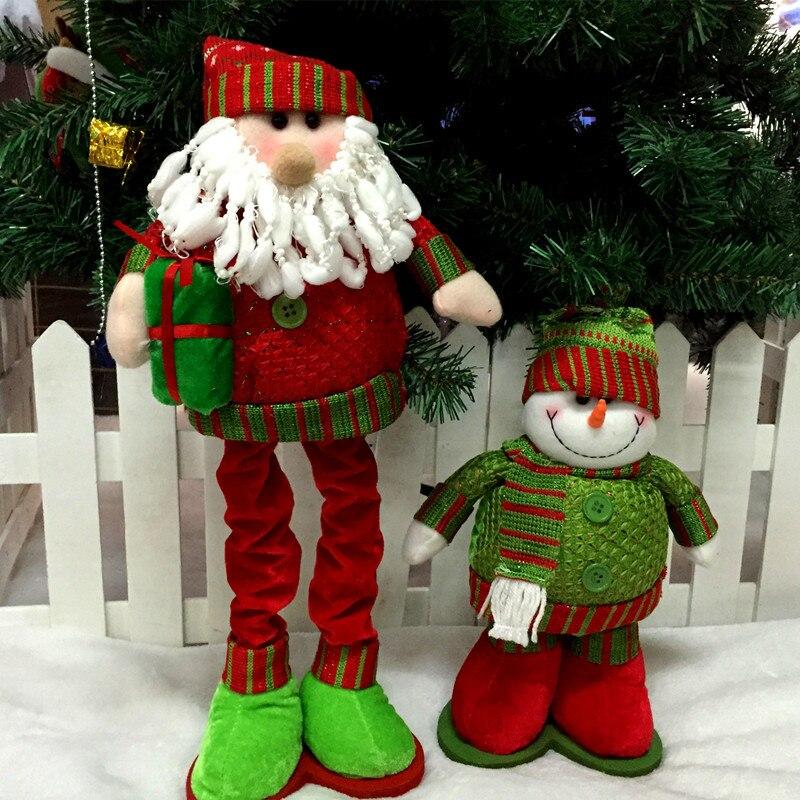unids el cielo de la moda adornos de navidad mueco de nieve de santa claus