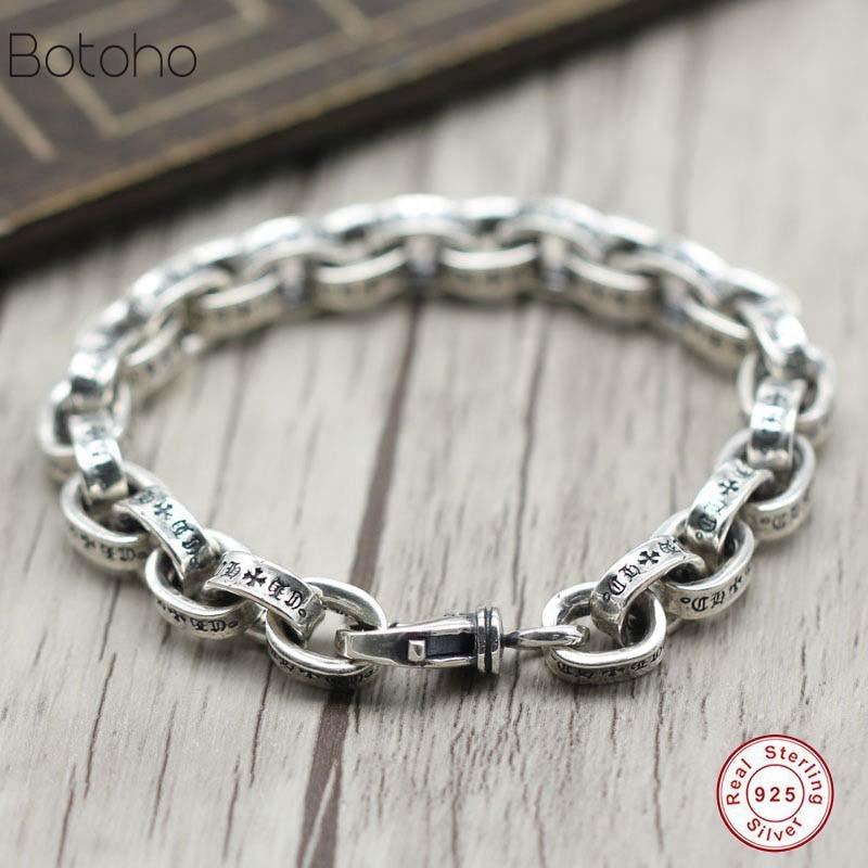 100% 925 en argent sterling hommes bracelet de luxe t hommes haute bijoux cadeau d'anniversaire homme homme 925 bracelet en argent sterling bracelet à breloques