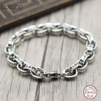 100% 925sterling silver men bracelet luxury t men high jewelry birthday gift man man 925 sterling silver bracelet Charm Bracelet