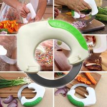 2017 Circular Annular Cutter kitchen knife chopping artifact Pizza Portable Safety Convenience Multifunctional Tools Home Kits
