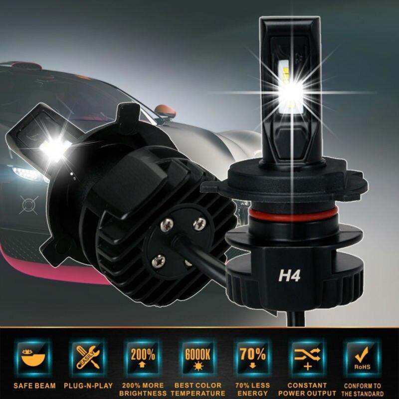 ФОТО Super Bright White H1 H4 H7 H8 H9 H11 9005 HB3 Car Led Headlight Bulbs to Replacement Auto Halogen Headlamp Fog Conversion Kit