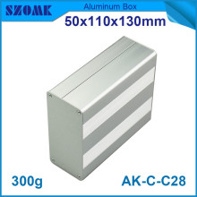 4pcs/lot metal project housing powder coating aluminum extrusion control enclosure 50*110*130mm