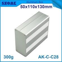 4pcs/lot metal project housing powder coating aluminum extrusion control enclosure 50*110*130mm