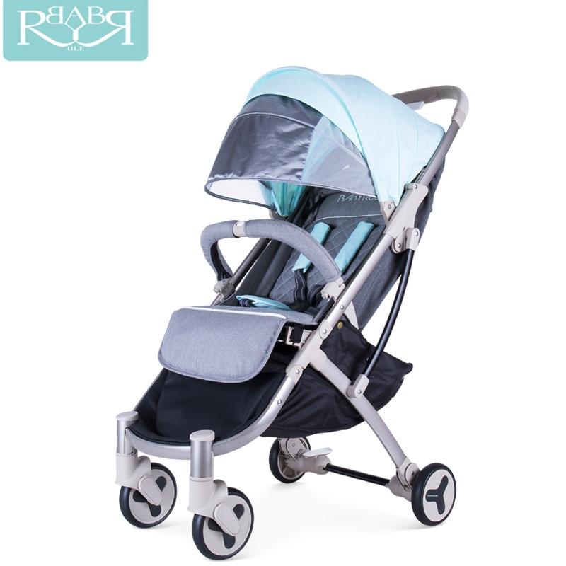Babyruler Kidstravel Portatile leggero passeggino 3 in 1 carrozzina Carrozzina Passeggini può sedersi o sdraiarsi bambini Kinderwagen