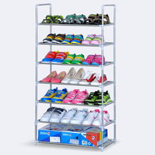Shoe rack rust steel storage 7 layers without cloth cover simple shoe
