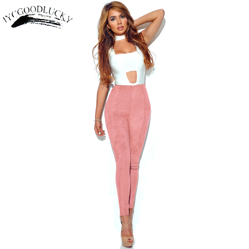 Suede   Leggings   Women Side Zipper Slim Leggins Skinny Fashion Winter   Leggings   Women High Waist Office Wear All Matched Trousers