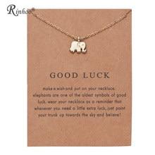 Rinhoo animal elefante flor ouro cor pingente colares clavícula correntes colar moda corrente colar feminino vintage jóias
