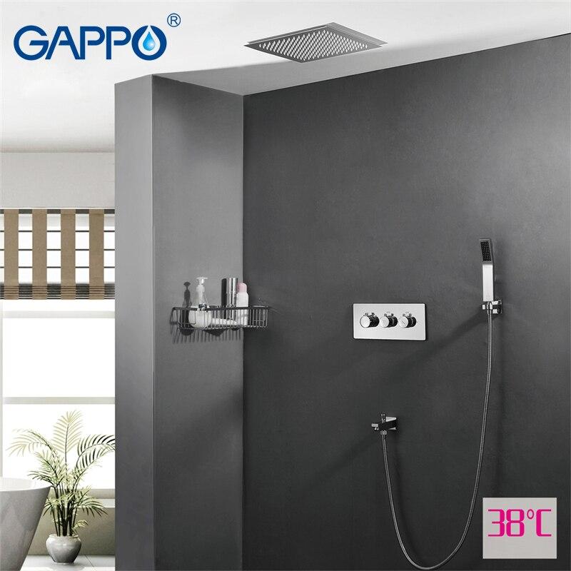 GAPPO смеситель для душа бассейна Раковина Водопад смесители душ смеситель для ванны смеситель осадков краны ванны термостатический Сенсор