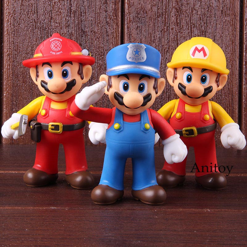 Super Mario Action Figure The Worker Super Size Figure Collection Model Toy 1