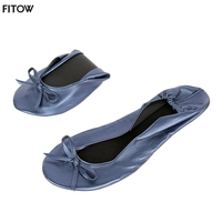14 Color 4 Size Portable Fold Up Ballerinas Roll Up Foldable Ballet After Party Flat Shoes
