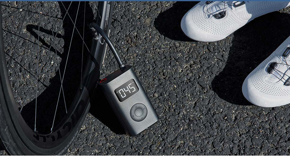 In-Stock Xiaomi Mijia Portable Smart Digital Tire Pressure Detection Electric Inflator Pump for Bike Motorcycle Car Football (11)