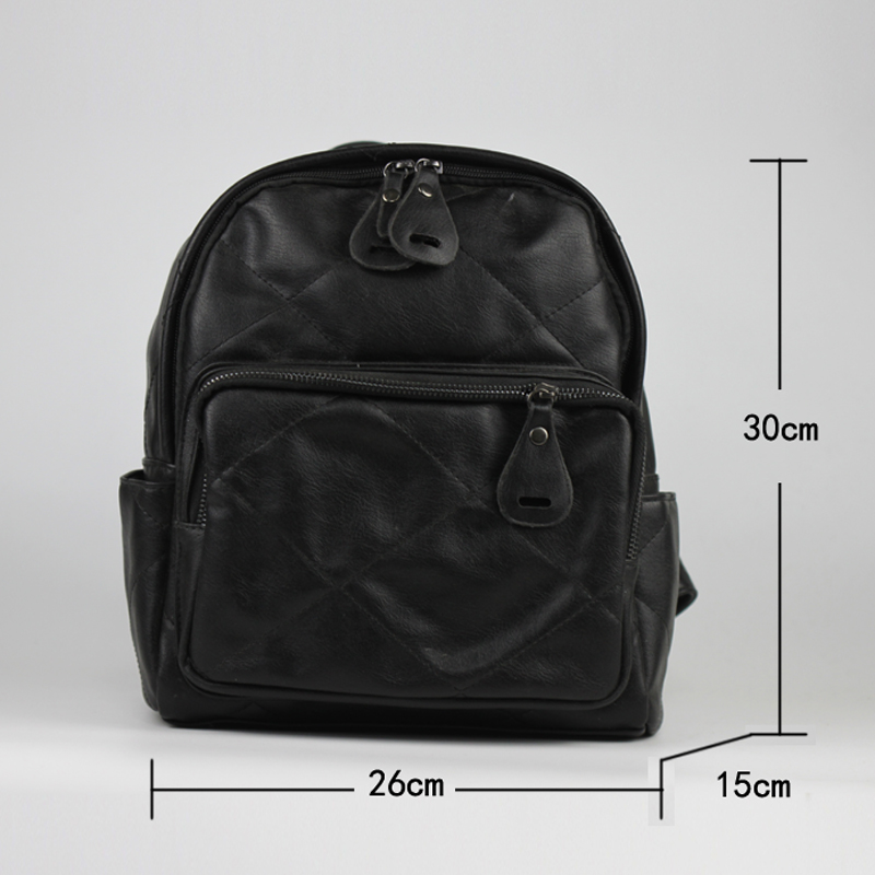 a4587dc91b Best buy MLITDIS Bolsa Feminina Mochila Escolar Black Leather Women s Backpack  Women School Bags For Teenagers Sac A Dos Femme Vintage online cheap