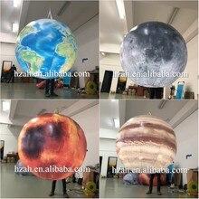 Горячая 4 шт надувной глобус/луна/Марс/планета Сатурн воздушные шары