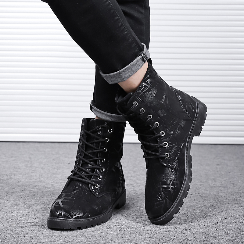 Segurança Botas Homem Impressão Neve Sapatos Outono De Preto Zapatos branco Borracha Seguridad Inverno 2018 Dos Homens Uw71q5B8x