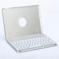Luxury 7 Colors Backlight Backlit Aluminum Wireless Bluetooth Keyboard Protective Case Cover For IPad Air 2