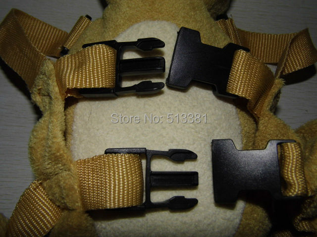 Beige Bear Harness Buddy Animal Reins Goldbugs Harness Buddy Back Packs Plush Toy Backpack Child Walker