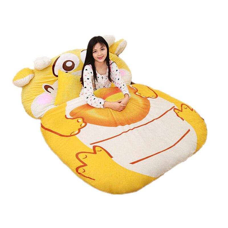 Fancytrader мультфильм животных Дракон татами гигантская мягкая сумка бини кровать ковер коврик диван