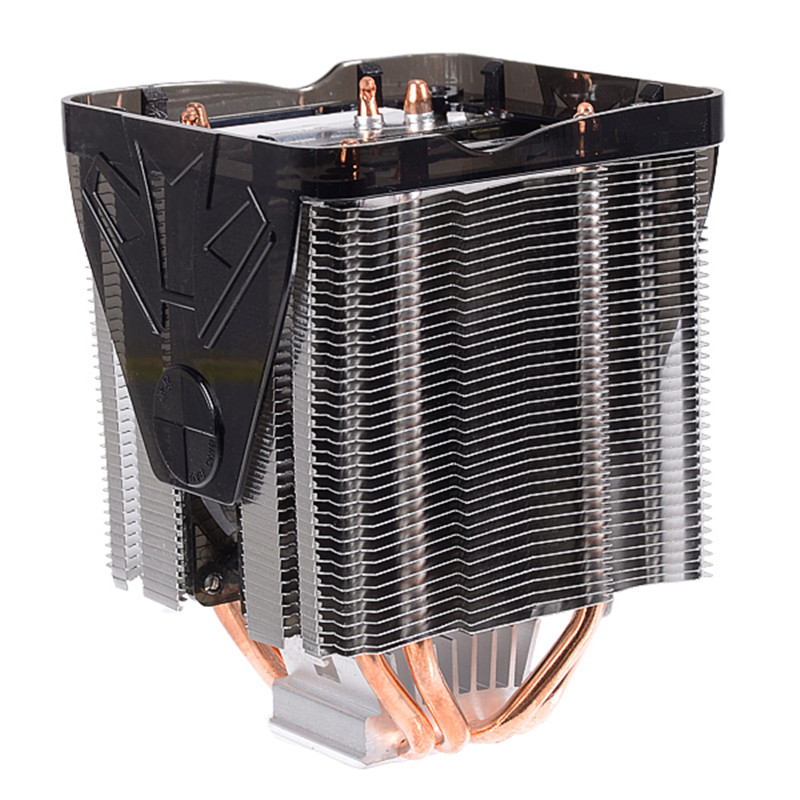 powerful 100x100x135mm 4 copper heat pipe cpu cooler fan for desktops computer adopts hydraulic. Black Bedroom Furniture Sets. Home Design Ideas