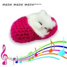 Kid Toys Musical Cat Toys Kitten Stuffed Soft Animal Simulation Sounding  Plush Cat Toy for Children 1800666c66ab