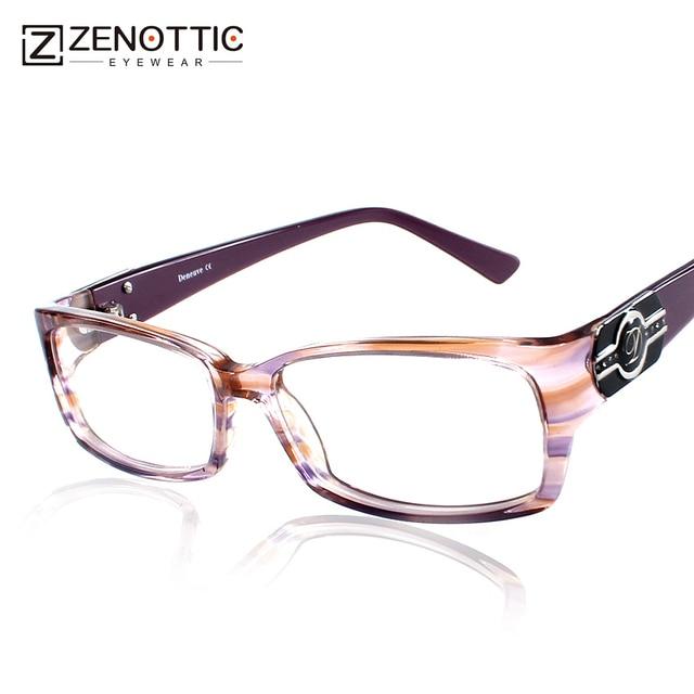 216b685f1a26 ZENOTTIC 2018 Fashion Brand Design Eyeglasses Frame Women Acetate Lady Style  Acetate Optical Frames Prescription Famale Glasses