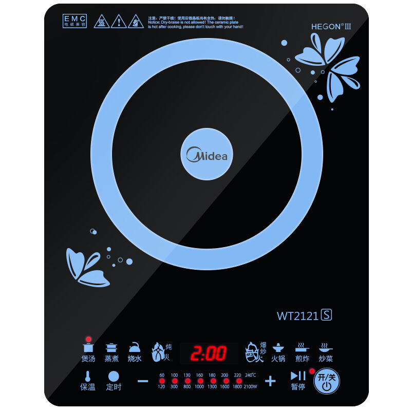 Midea WT2121 Induction Cooker Home Intelligent Student Mini Official Genuine Special Offer Kitchen Appliances free shipping 40pcs fsd210 induction cooker ic good quality 7pin and 8pin can offer
