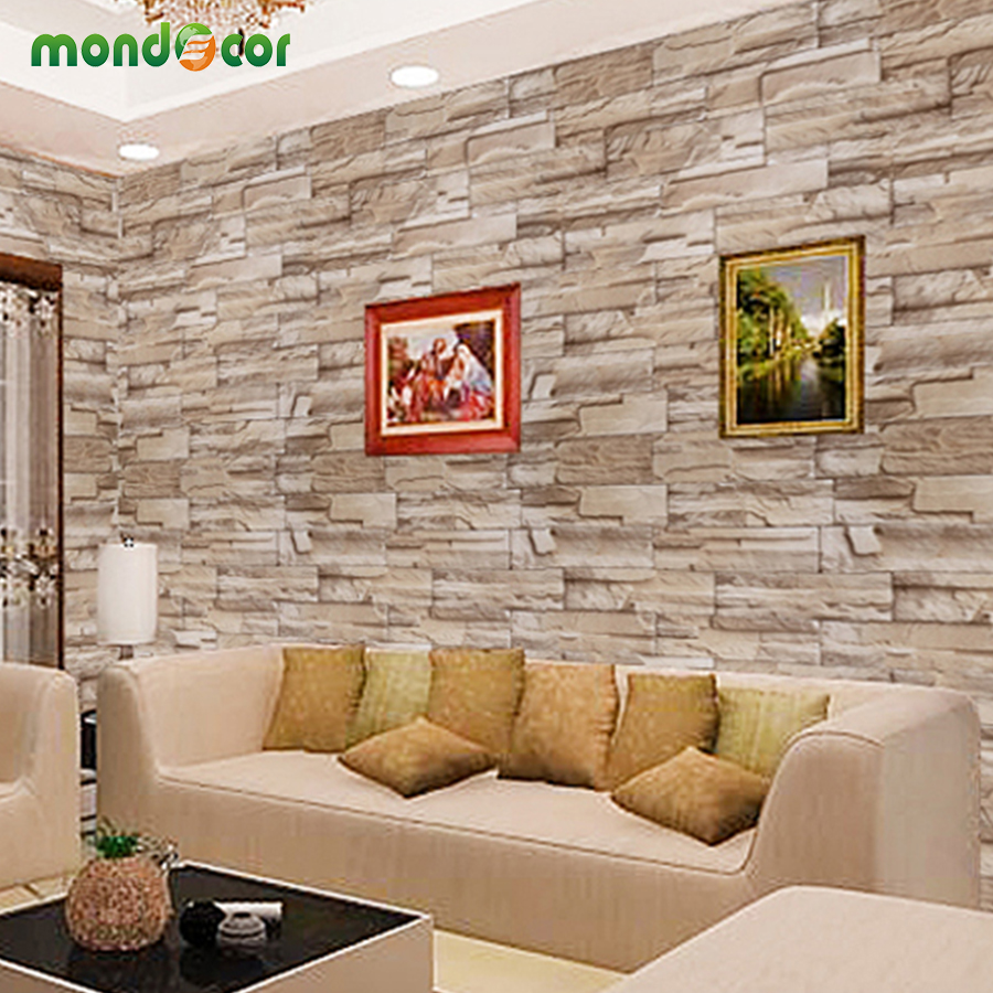 PVC Vinyl Brick Waterproof Wall Sticker For Living Room Bedroom Kitchen Self Adhesive Wallpaper Stickers Home Decor Wall Decal
