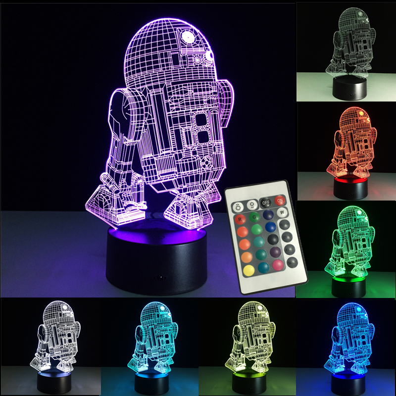 3D Night Lights Led Lamp Star Wars USB LED Lighting Luminaria Table Lamp Bedroom Decor Nightlight For Christmas Decorations Gift