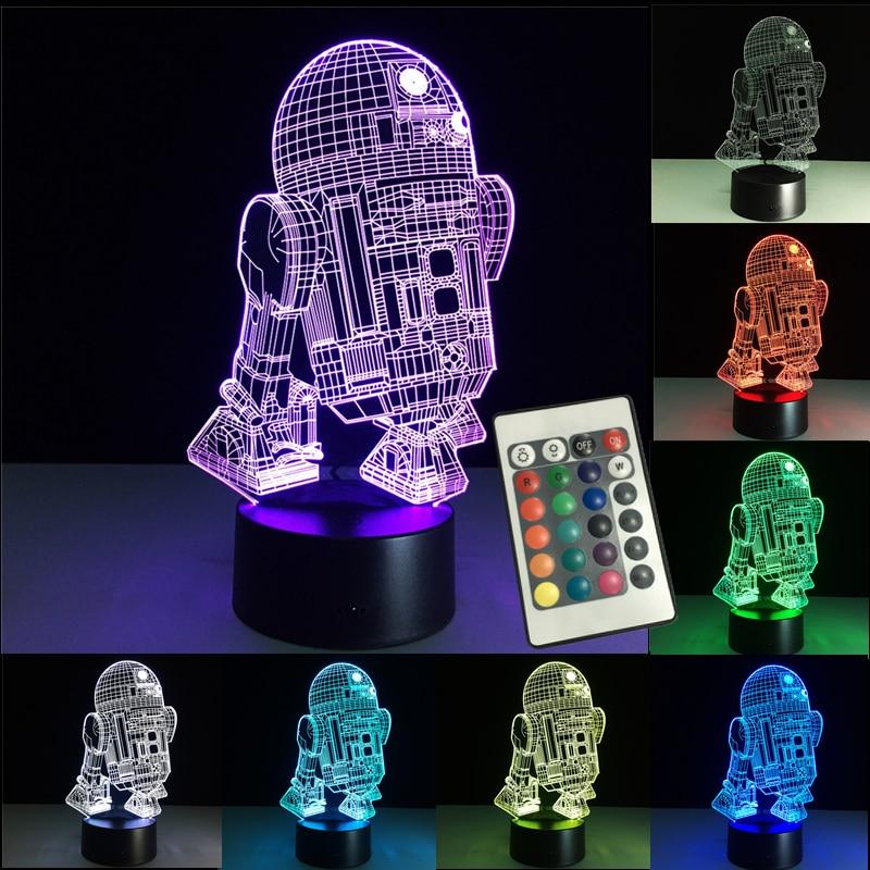 3D Night Lights Led Lamp Star Wars USB LED Lighting Luminaria Table Lamp Bedroom Decor Nightlight For Christmas Decorations Gift