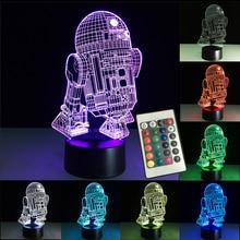 3D Night Lights Led Lamp Star Wars USB LED Lighting Luminaria Table Lamp Bedroom Decor Nightlight