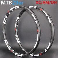 Высокое качество 29er MTB углерода обод колеса 24 H 28 H 32 H 36 H для XC AM DH эндуро Mountain велосипед 29 колеса 3 К 6 К 12 К Ud матовая глянцевая