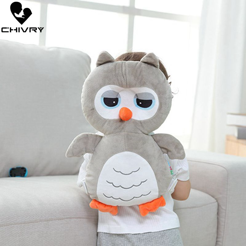 Chivry Baby Pillow Owl Cartoon Head Anti-fall Protection Cushion Pad Toddler for Newborn