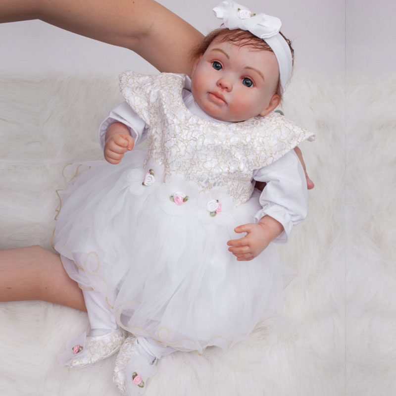22inch Interactive Dolls Silicone Reborn Dolls Toys BeBe Reborn Doll Toy Newborn Baby Dolls Juguetes Brinquedos For Christmas interactive toys