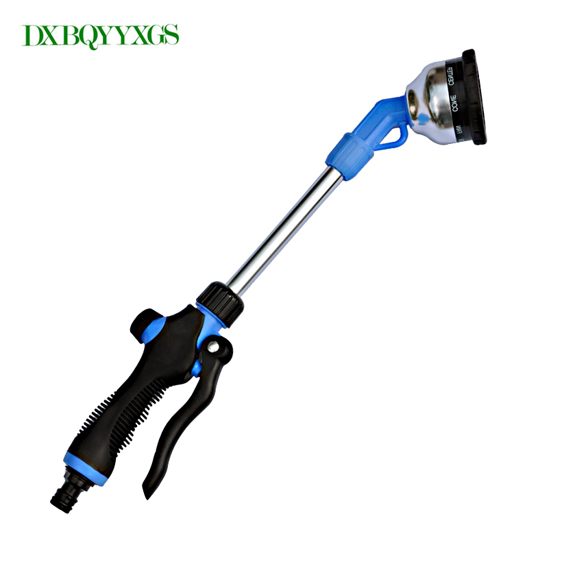 DXBQYYXGS Nine-function pole spray gun car wash watering multi-function long-handled high-pressure water gun Garden irrigation
