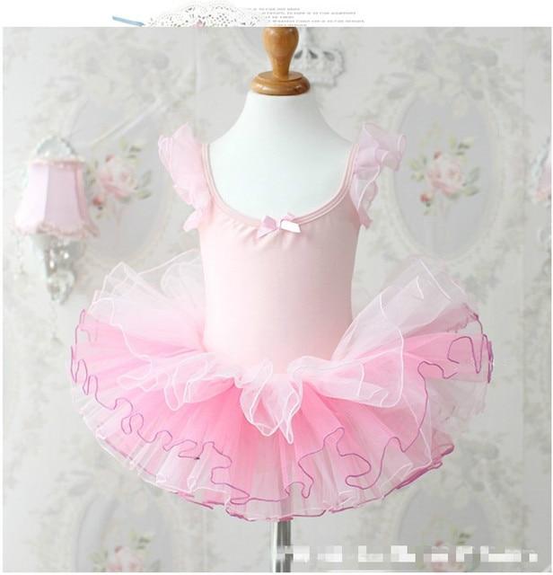 Rosa Niñas Ballet vestido para niños niña Ropa de baile niños Ballet ...