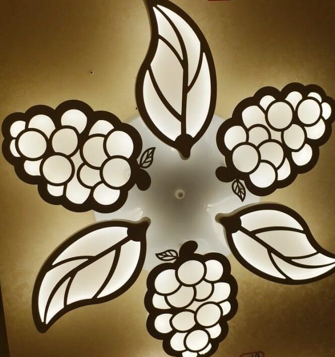 100% De Qualité Mellifluous Nouveauté Plafond Moderne à Leds Lumières Pour Salon étude Chambre Décoration Plafonnier Luminaires Feuille Forme 6 Tête