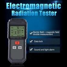 ET825 Handheld EMF Meter & Battery Electromagnetic Field Radiation Tester Mini Digital LCD Detector Dosimeter for Computer Phone