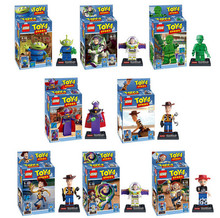 NEW hot 8pcs set Toy Story Buzz Lightyear Woody Action Figures font b Building b font