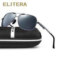 ELITERA Unisex Retro Alloy Brand Sunglasses Polarized Lens Vintage Eyewear Accessories Sun Glasses Oculos For Men