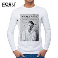 Man's White T-shirt long sleeve O-neck 2017 new style Man Winter Inside Clothing Cotton Europe Celebrity UK Singer print Retro