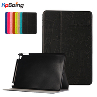 Lovely Cute Cartoon Pairs Style Luxury Flip Case For IPad Air 2 Fashion Folding Tablet Case