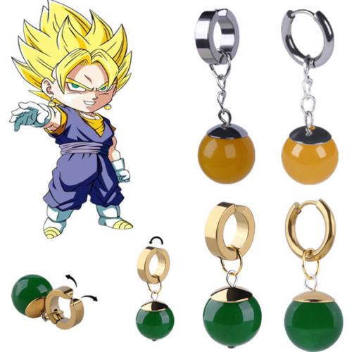 245e9d43aff7 Porque Super Dragon Ball Z TTO Potara Black Son Goku Zamasu pendientes de  oreja