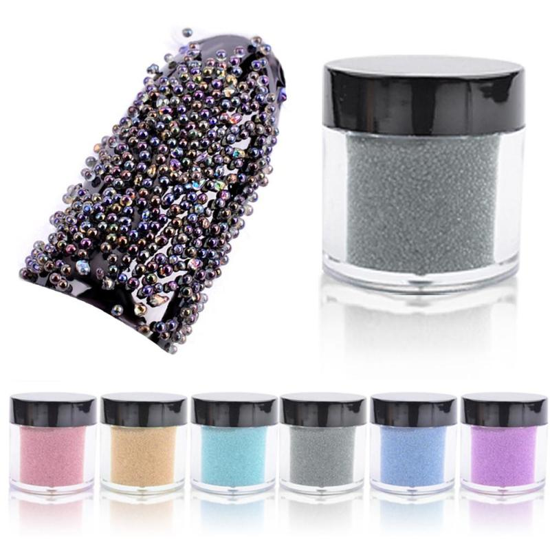 1 Box DIY Nail Glitter Beads Rhinestone AB Crystal Glass Caviar Beads Tiny 3D Micro Pixie Nails Art Manicure Decoration Tools Z3 mioblet 2g box mirror effect nail glitter powder shiny rose gold purple mirror chrome powder dust nails art pigment diy manicure