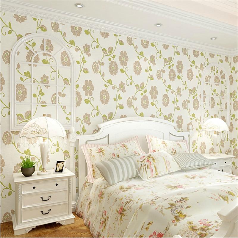 sunflower bedroom simple romantic modern background embossed warm living 3d wallpapers beibehang roll