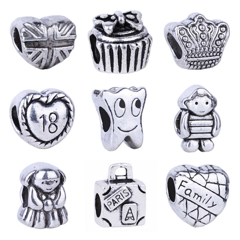 New Smile Tooth Boy & Girl Family Heart 18 Birthday Bead Fit Original Pandora Charms Silver 925 Bracelet Jewelry For Women Man